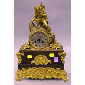 Charlet Gilt-metal Figural Mantel Clock.