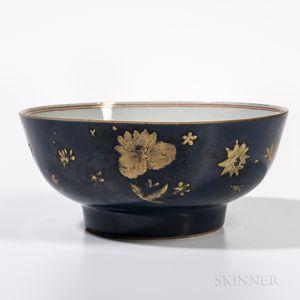 Export Powder Blue-glazed Imari Bowl