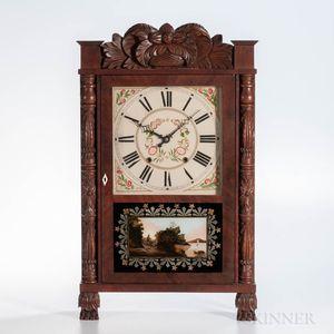 Elisha Hotchkiss Carved Transitional Shelf Clock