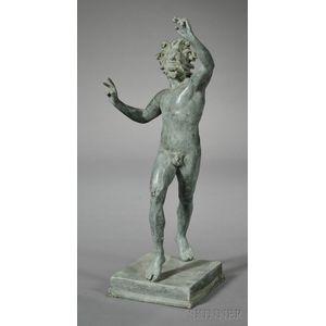 "Grand Tour Bronze of ""The Dancing Faun,"""