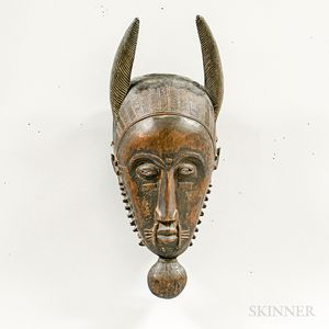 Guro-style Carved Wood Mask