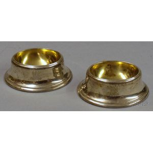 Two Sterling Silver Trencher Salts