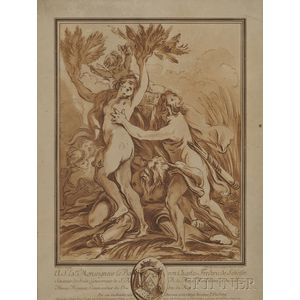 Per Gustaf Floding (Swedish, 1731-1791), After François Boucher (French, 1703-1770)      Apollo and Daphne