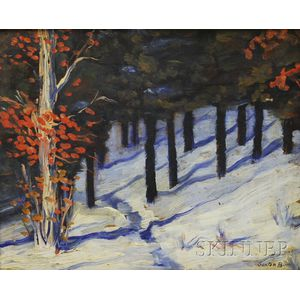 Harold Saxton Burr (American, 1889-1973)      Winter Woods