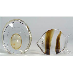 Two Art Glass Sculptures