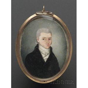 Portrait Miniature of a Benjamin Tyler When He was 22 Years Old.