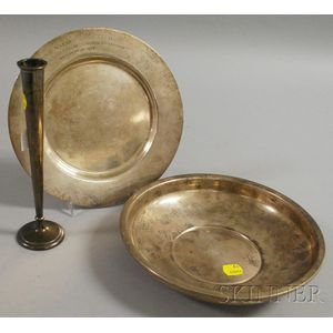 Three Silver and Silver-plated Items