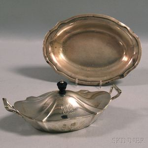 Two Gorham Sterling Silver Shaped Serving Dishes