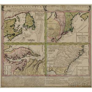 North America. Homann Heirs. Dominia Anglorum in America Septentrionali.