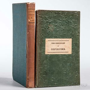 Cooper, James Fenimore (1789-1851) The Chronicles of Cooperstown.