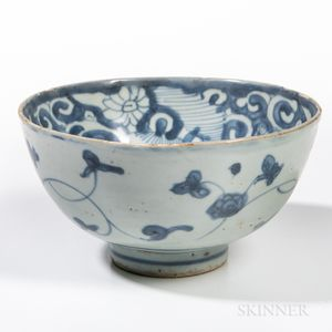 Swatow Blue and White Bowl
