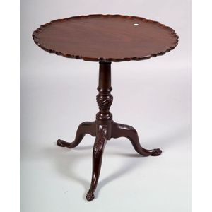 George III Carved Mahogany Tilt-top Tripod Table