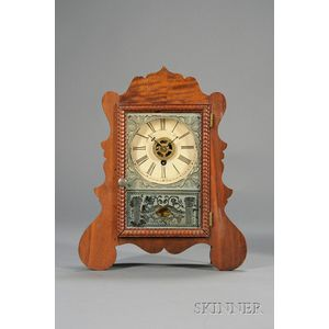Mahogany Miniature Cottage Clock by Brewster Manufacturing Company