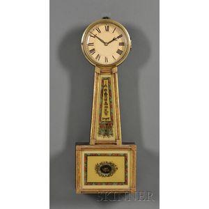 Federal Gilt-gesso and Mahogany Patent Timepiece