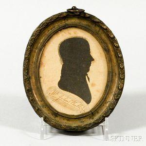 Framed Hollow-cut Silhouette of John Phillips