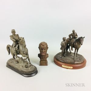 Three Military Sculptures