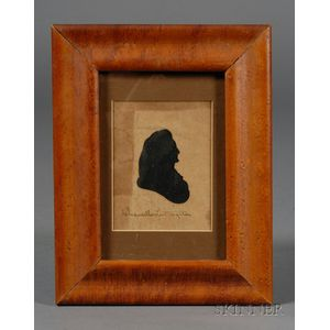 Silhouette Portrait of Robert Livingston, Administrator of Presidential Oath to Wash   inton