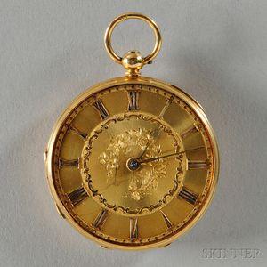 James Stoddard 18kt Gold Open-face Watch