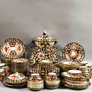 "Group of Royal Crown Derby ""Traditional Imari"" Porcelain Dinnerware"