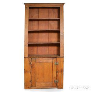 Pine Slant-back Cupboard