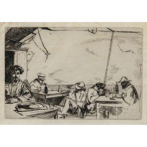 James Abbott McNeill Whistler (American, 1834-1903)      Soupe à trois sous