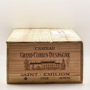 Chateau Grand Corbin Despagne 2005, 12 bottles (owc)