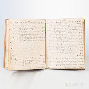 Boston Account Books and Banking Records Six Manuscript Volumes, 1849-1873.