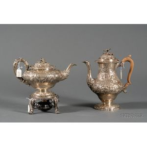 Three Associated George IV Silver Tablewares