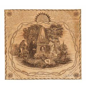 George Washington Memorial Printed Kerchief
