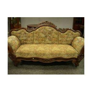 Late Empire Upholstered Mahogany Sofa.