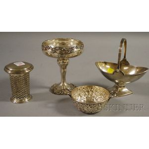 Four Small American Sterling Tableware Items