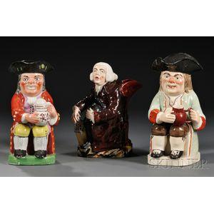 Three Staffordshire Pottery Toby Jugs