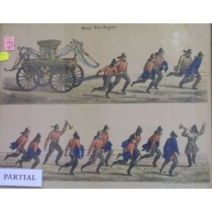 Six Framed 19th Century Historical and Satirical Prints
