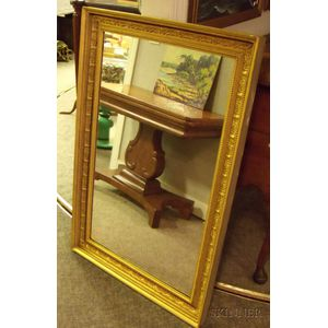 Gold-painted Gesso and Wood Framed Mirror