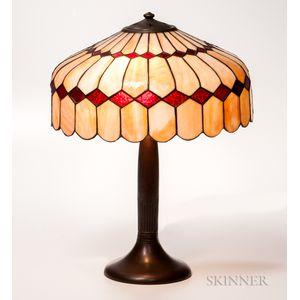 Handel Slag Glass Table Lamp