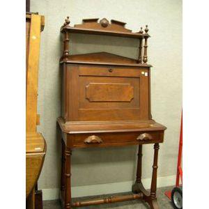 Renaissance Revival Walnut Fall-Front Writing Desk.