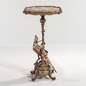 Japonisme Gilt- and Silvered-bronze Figural Gueridon