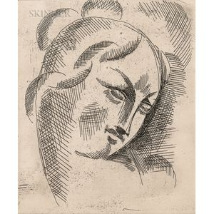 Elie Nadelman (American, 1885-1946)      Head Study