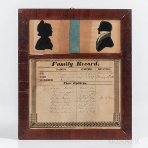 Hollow-cut Silhouettes and Family Record