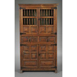 Spanish Baroque-style Pine Cabinet