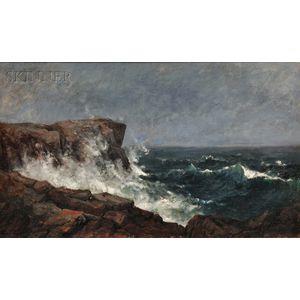 John Appleton Brown (American, 1844-1902)      Crashing Waves, Isles of Shoals