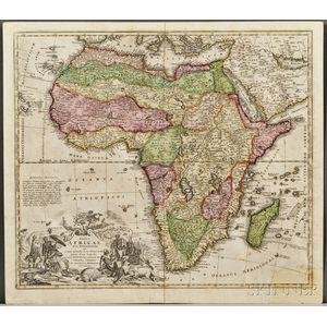Africa. Johannes Baptist Homann (1664-1724) Totius Africae Nova Repraesentatio.