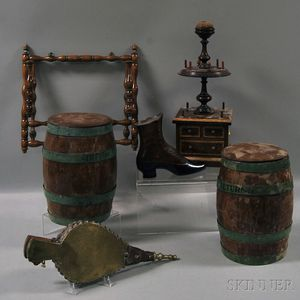 Six Assorted Wood Items