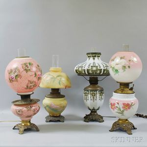 Four Glass Lamps