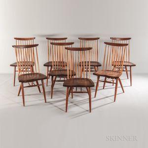 Eight George Nakashima (1905-1990) Dining Chairs
