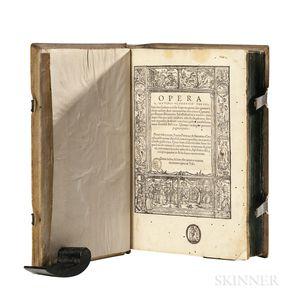 Tertullian (c. 155-c. 240 AD) ed. Beatus Rhenanus (1485-1547) Opera  , Editio Princeps.