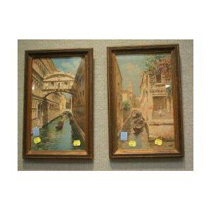 Pair of Framed Watercolor Venetian Views