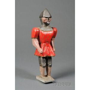 Polychrome Painted Soldier Whirligig Figure