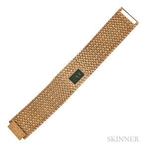 Fine 18kt Gold and Hardstone Bracelet Watch, Piaget