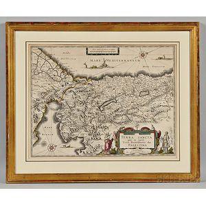 Palestine. Willem Janszoon Blaeu (1571-1638) Terra Sancta quae in Sacris Terra Promissionis olim Palestina.